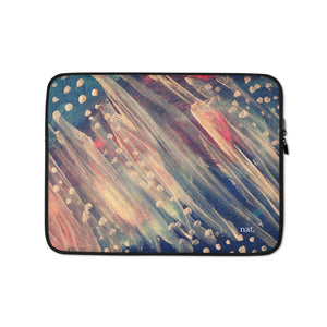 Laptop Sleeve 'dotting' - nat. live in art