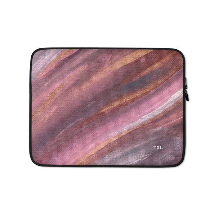Laptop Sleeve 'listening' - nat. live in art