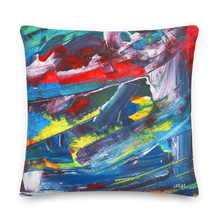 Load image into Gallery viewer, XL Cushion 'El Medano kitesurfing' - nat. live in art