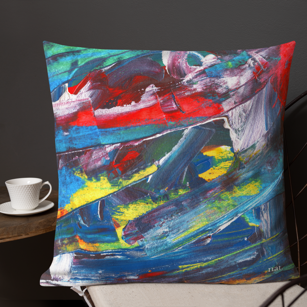 XL Cushion 'El Medano kitesurfing' - nat. live in art