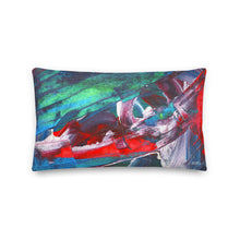 Load image into Gallery viewer, Wide Cushion 'El Medano kitesurfing' - nat. live in art