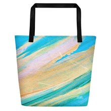 Load image into Gallery viewer, nat. golding oversized tote - nat. live in art