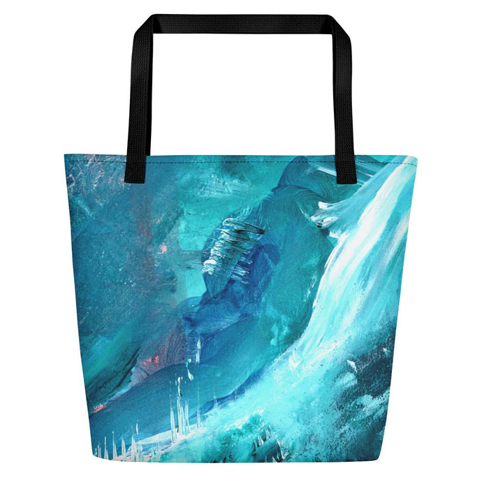 nat. icing oversized tote - nat. live in art