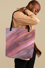 Load image into Gallery viewer, nat. listening oversized tote - nat. live in art