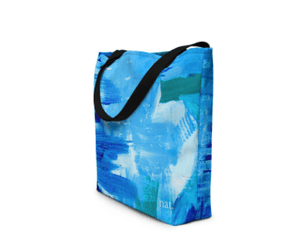 nat. surfing oversized tote - nat. live in art