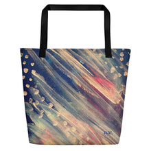 Load image into Gallery viewer, nat. dotting oversized tote - nat. live in art
