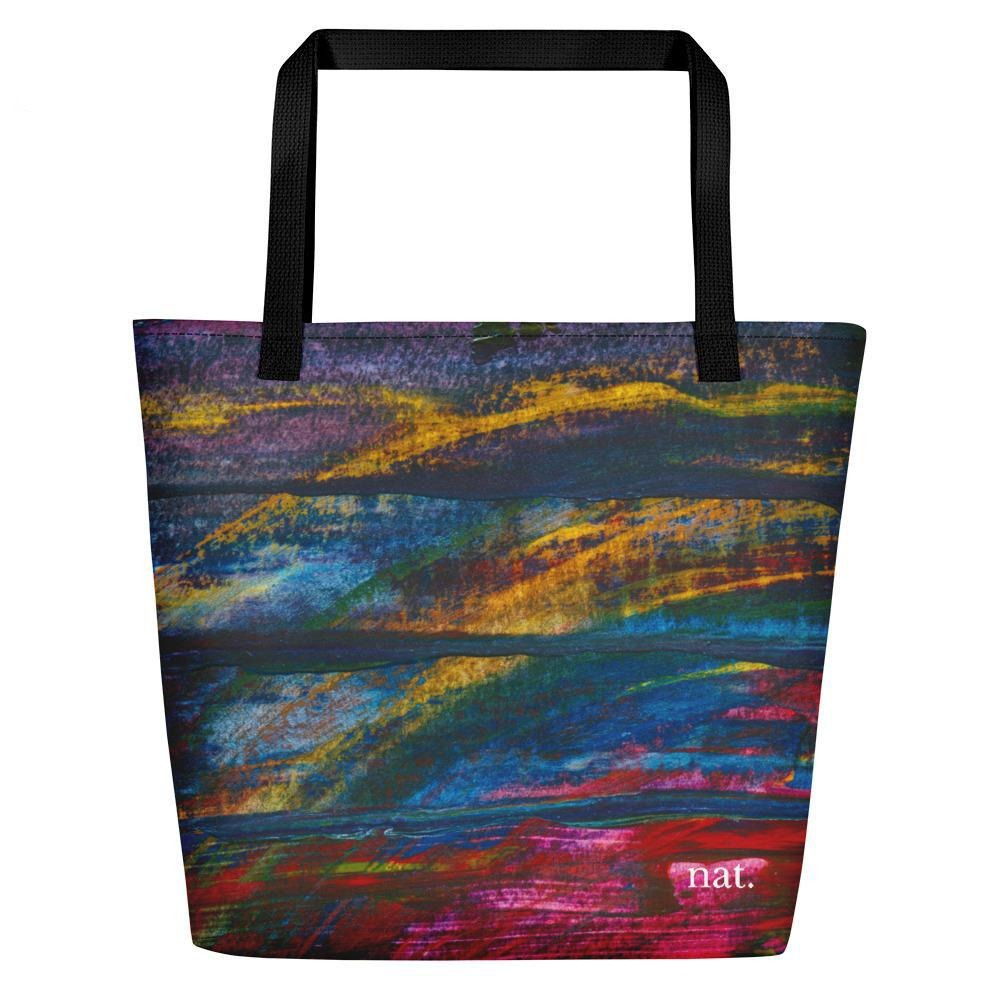 nat. emerging oversized tote - nat. live in art