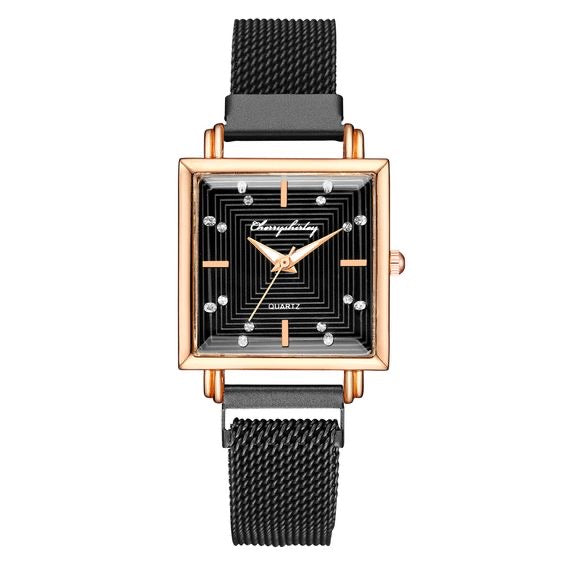 Square Dial Mesh Watch