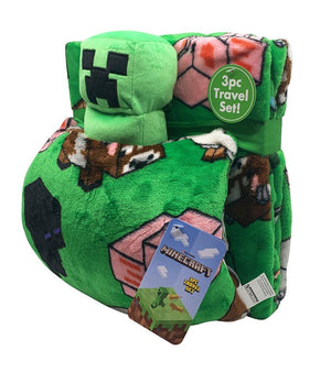 MINECRAFT 3PC THROW/PILLOWBUDDY/DEC PILLOW SET