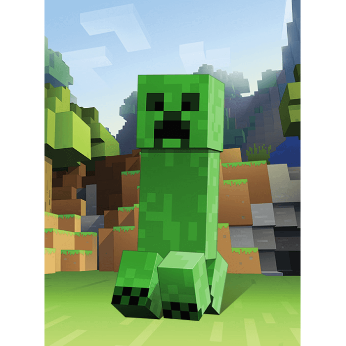 Minecraft Creeper Zoom Kids Short Sleeve T-Shirt
