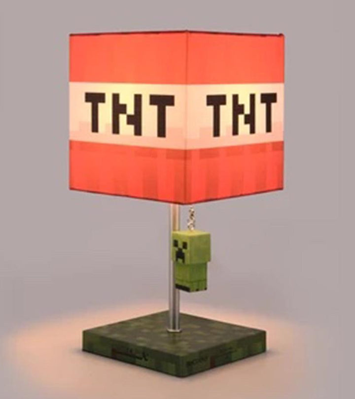 MINECRAFT TNT BLOCK TABLE LAMP