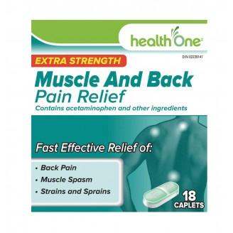 Health ONE extra strength muscle and back pain