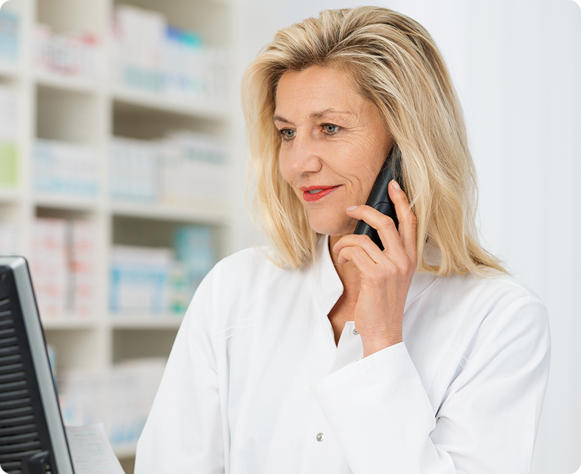 photo of Pharmacist on the phone