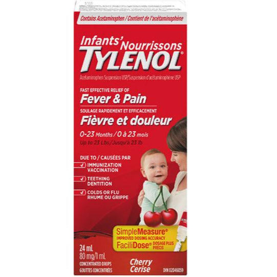 Infants' Tylenol Fever & Pain Drops - Cherry