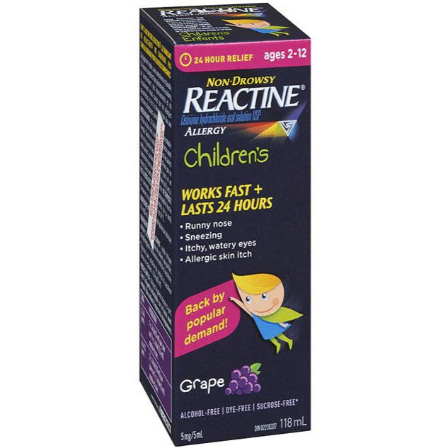 Reactine Children's - Grape
