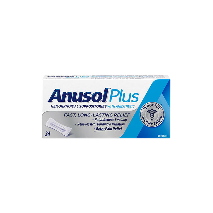 Anusol Plus Hemorrhoidal Suppositories - Extra Pain Relief