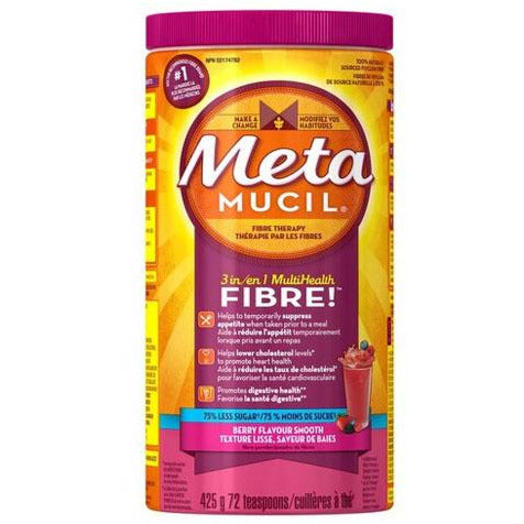 Metamucil MultiHealth 3-in-1 Fibre Smooth Texture Powder Sugar Free - Berry