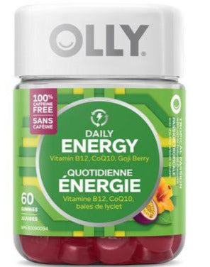 OLLY Daily Energy Caffeine Free Gummies - Tropical Passion