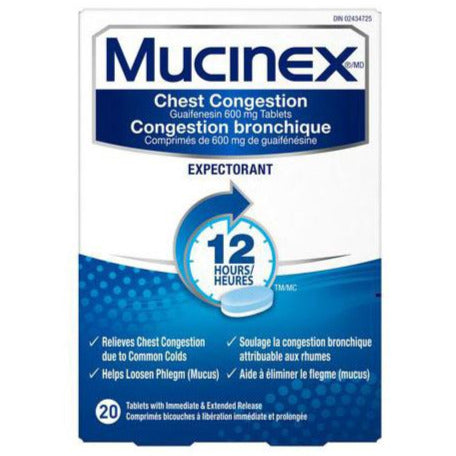 Mucinex Chest Congestion Expectorant 12HR
