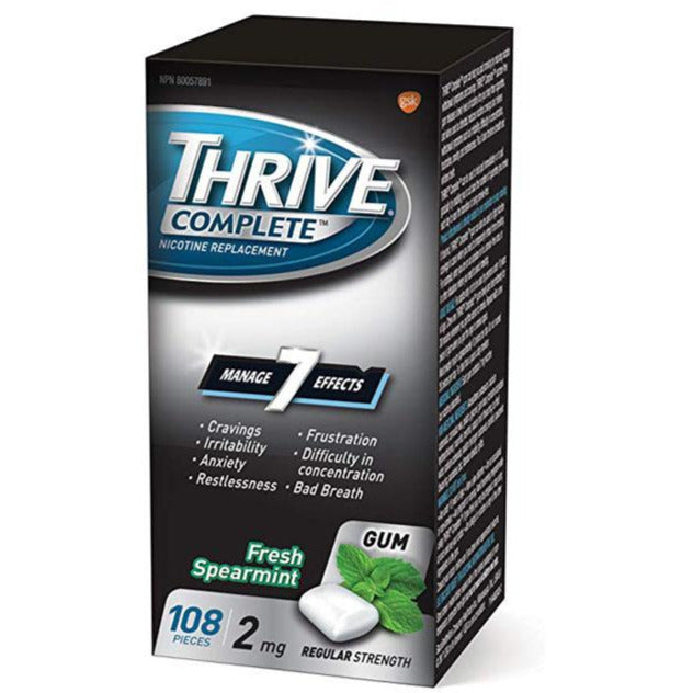 Thrive Gum 2mg Regular Strength Nicotine Replacement