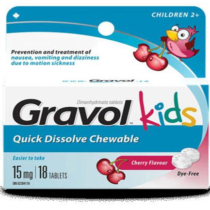 Gravol Kids Quick Dissolve 15 mg
