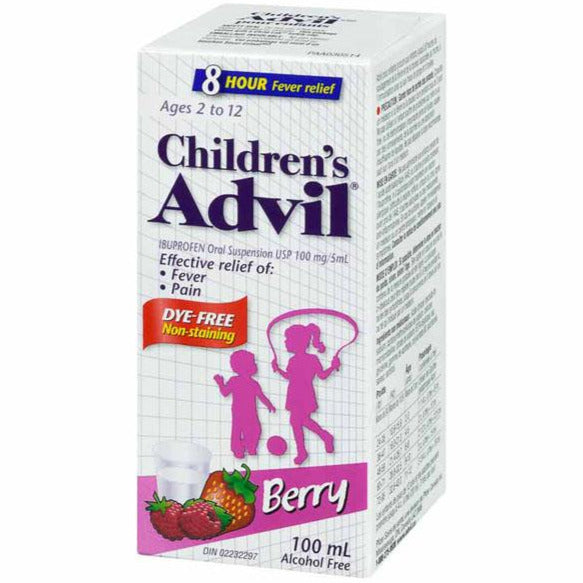 Children's Advil Oral Suspension Dye Free - Berry