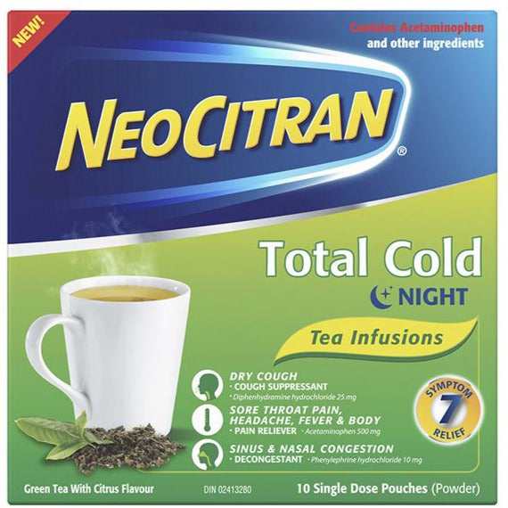 NeoCitran Total Cold Night - Green Tea