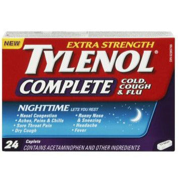 Tylenol Complete Cold, Cough & Flu Extra Strength Night Tablets
