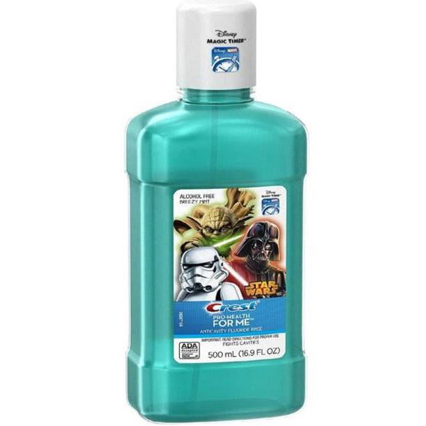 Crest Kid's Alcohol Free Mouthwash Featuring Disney's Star Wars - Breezy Mint