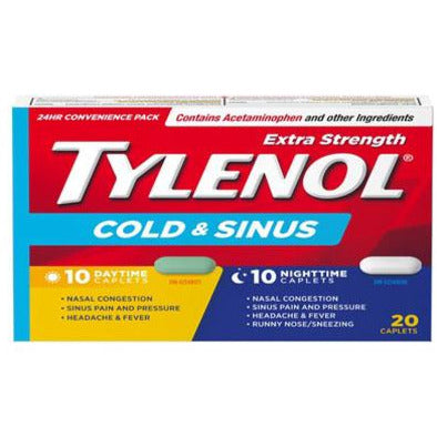 Tylenol Cold & Sinus Extra Strength Daytime + Nighttime