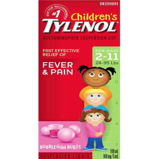 Children's Tylenol Fever & Pain - Bubble Gum