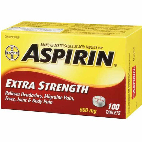 Aspirin 500 mg Extra Strength Tablets