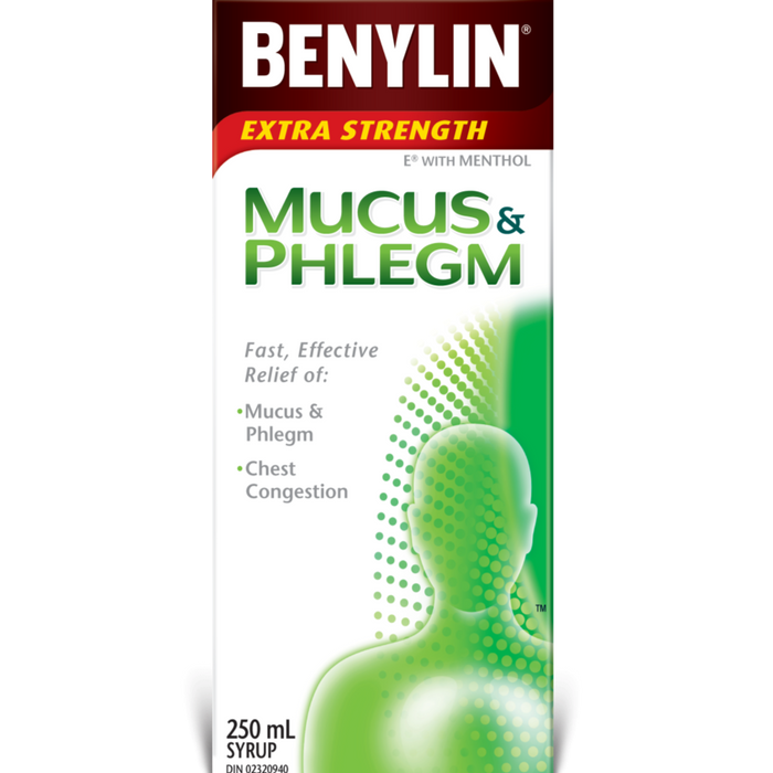 Benylin Extra Strength Mucus & Phlegm Syrup E with Menthol