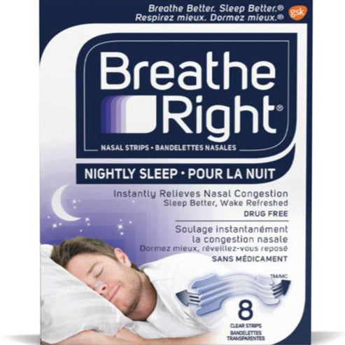 Breathe Right Nightly Sleep Nasal Strips - Clear
