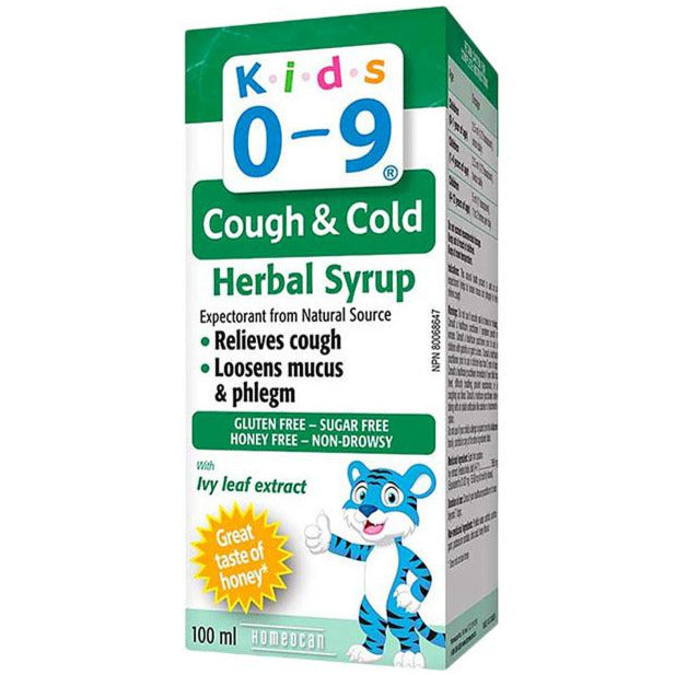 Homeocan Kids 0-9 Herbal Cough & Cold Syrup