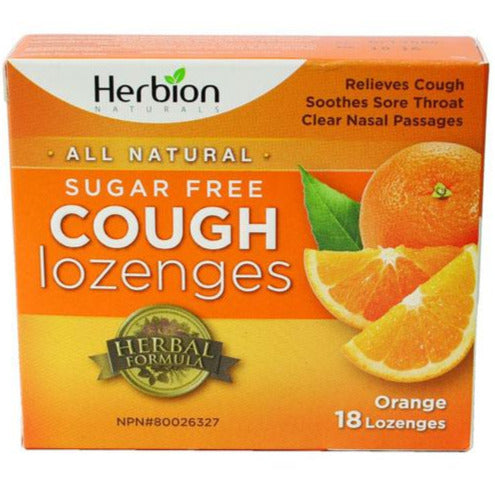 Herbion Sugar Free Cough Lozenges - Orange