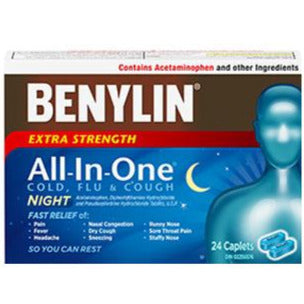 Benylin All-In-One Extra Strength Cold & Flu Night