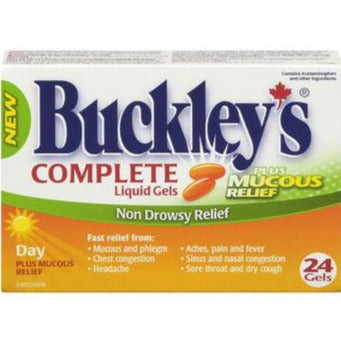Buckley's Complete Day Liquid Gels Plus Mucous Relief