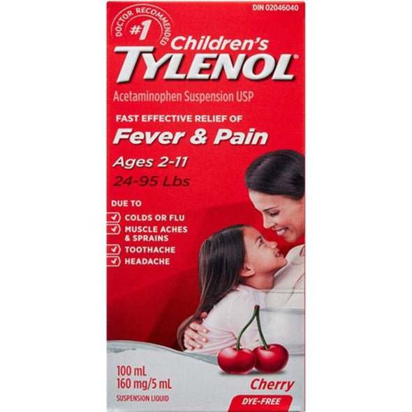 Children's Tylenol Fever & Pain - Dye Free Cherry
