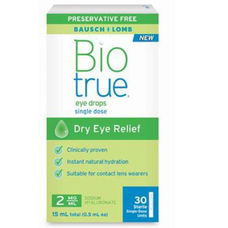Bausch & Lomb Biotrue Eye Drops - Single Dose Units