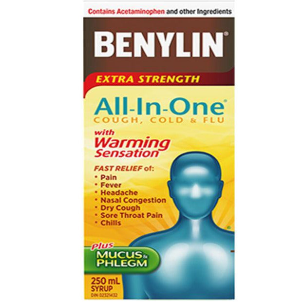 Benylin All-In-One Cold & Flu with Warming Sensation Syrup