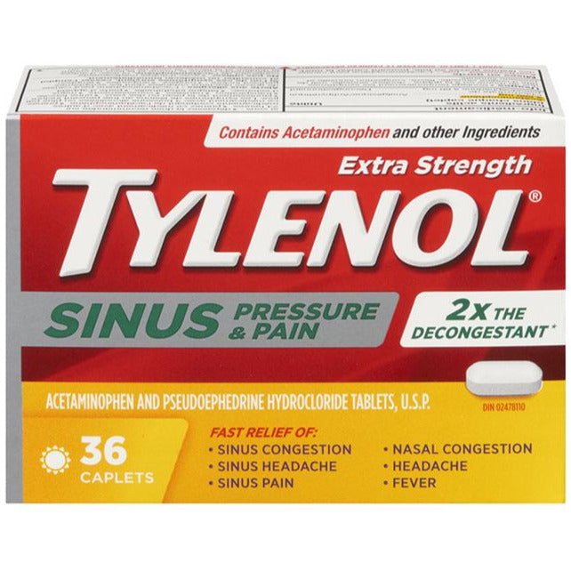Tylenol Sinus Pressure and Pain