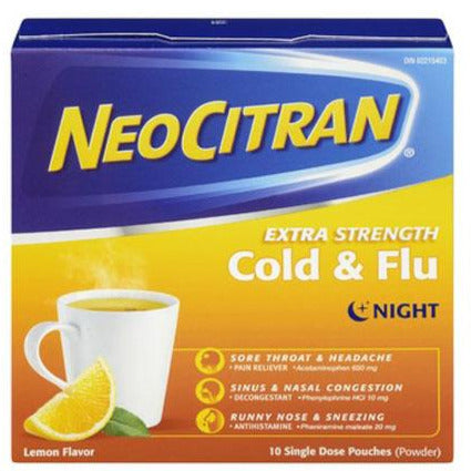 NeoCitran Extra Strength Cold & Flu Night - Lemon