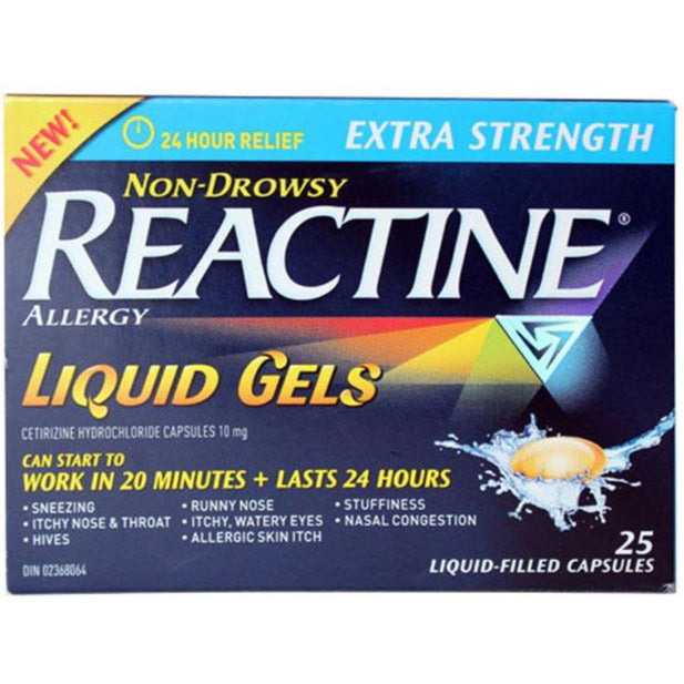 Reactine Extra Strength Liquid Gels