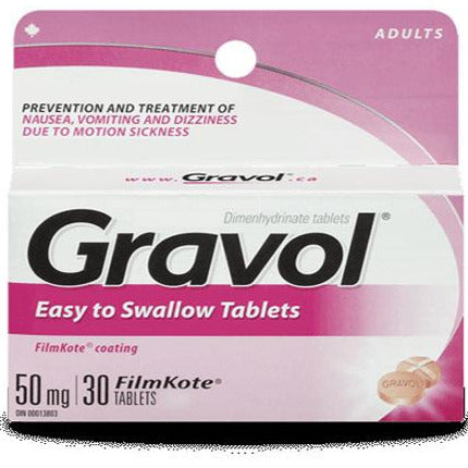 Gravol Easy to Swallow 50mg