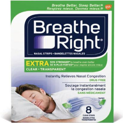 Breathe Right Extra Strong Nasal Strips - Clear