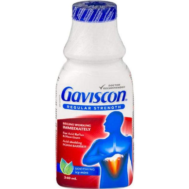 Gaviscon Regular Strength Liquid Antacid - Icy Mint