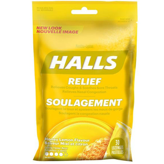 Halls Mentho-lyptus Cough Drops - Honey Lemon