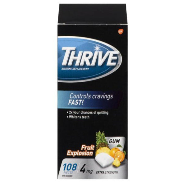 Thrive 4mg Nicotine Replacement Gum Fruit Explosion
