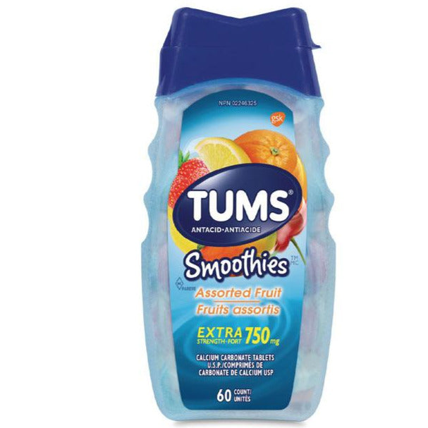 Tums Extra Strength Smoothie Antacid - Assorted Fruit